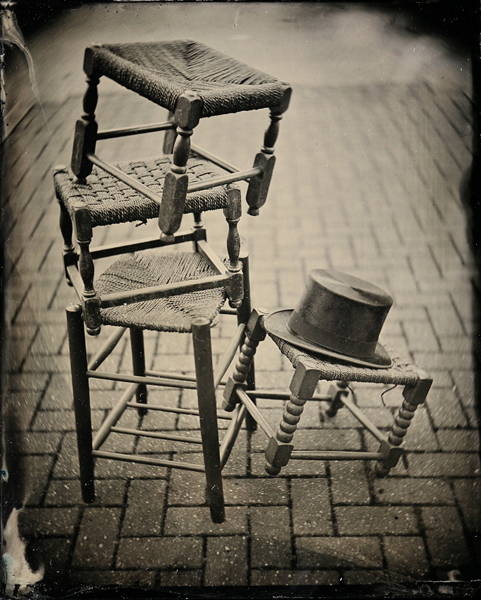 Wetplate of stools